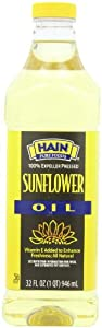 Hain Pure Foods Sunflower Oil, 32-Ounce (Pack of 3)