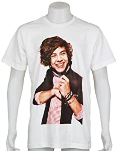 Harry Styles One Direction 1d Uk Boy Band Size Small White Music Tee T-shirt from Smock