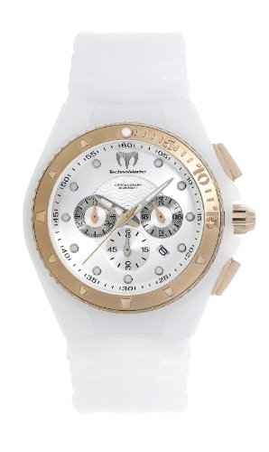 Technomarine Cruise Glitter Chronograph Rose Gold PVD Womens Sport Watch Calendar 109043