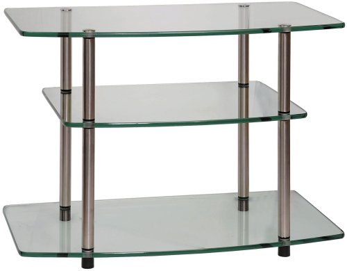 Convenience Concepts 157004 Go-Accsense Glass TV Stand for Flat Panel TV's up to 32-Inch or 80-Pounds