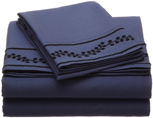 Cathay Home Fashions Luxury Silky Soft Berries Flock Microfiber Sheet Set