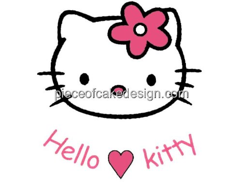 1/4 Sheet ~ Hello Kitty Title Birthday ~ Edible Image Cake/Cupcake Topper!!!