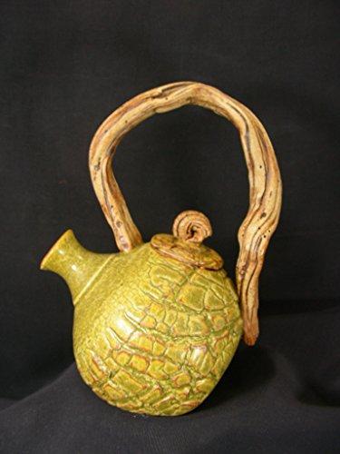Chingwenarts Studio Pottery Stoneware Teapot, Signed, T8395