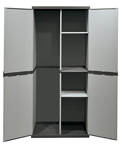 armadio mobile armadietto box portascope in resina per esterno terrazzo ebay. Black Bedroom Furniture Sets. Home Design Ideas