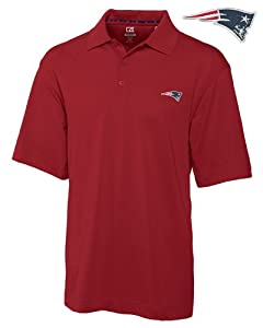 New England Patriots Mens Drytec Championship Polo Cardinal Red by Cutter & Buck