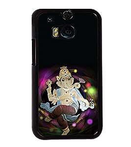 Ganpati 2D Hard Polycarbonate Designer Back Case Cover for HTC One M8 :: HTC M8 :: HTC One M8 Eye :: HTC One M8 Dual Sim :: HTC One M8s