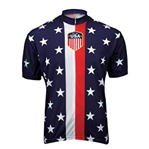 World Jerseys Retro 1956 USA Jersey - BLUE, MEDIUM
