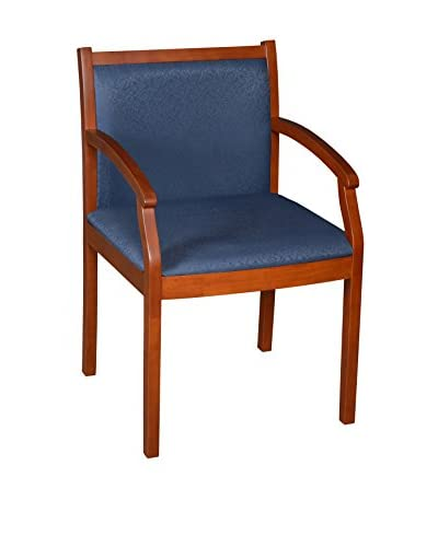 Regency Regent Wood & Fabric Side Chair, Cherry/Blue