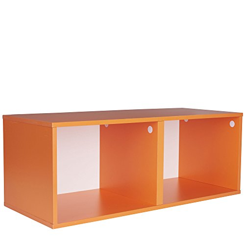 Household Essentials 8006-1 Modular Double Cube Storage, Orange (Household Essentials Bin Blue compare prices)