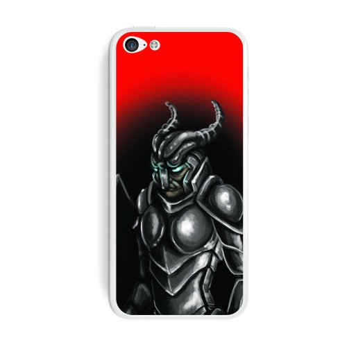 Graphics and More Knight Armor - Medieval Gladiator Warrior Dragon Slayer Fantasy Protective Skin Sticker Case for Apple iPhone 5C - Set of 2 - Non-Retail Packaging - Opaque