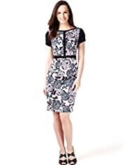 Cotton Rich Floral Print Panelled Dress