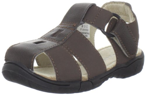 Jumping Jacks Sand Lot Fisherman Sandal ,Dark Brown,9 M US T
