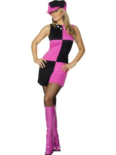 Smiffys Retro Mod Hot Pink Go Go Dancer 60s 70s Adult Costume S
