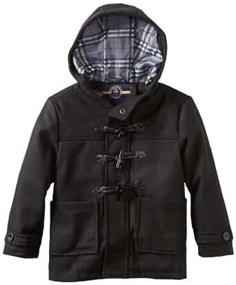 Urban Republic Little Boys' Wool Toggle Coat, Jet Black, 5/6