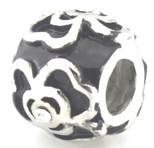HEIRLOOM European Flower with clear stones fits Pandora by Island Imports And More Will not Tarnish!!!