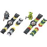 Lego Kid's Amazon Exclusive Ninjago Kendo Cole and Lasha 2 Pack Analog Watches With Minifigure