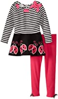 Bonnie Jean Little Girls' Ladybug Applique Legging Set