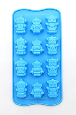 Anfimu Set of 4 Candy Chocolate Making Molds & Ice Cube Trays - Building Bricks and Figure Molds for Lego Lovers