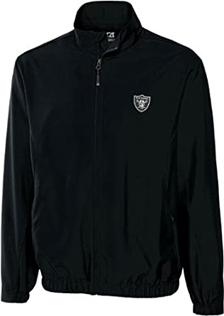 NFL Oakland Raiders Mens WindTec Astute Full Zip Windshirt by Cutter & Buck