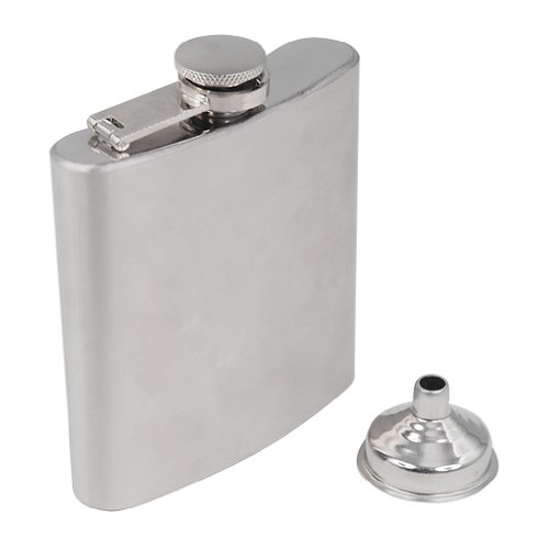SODIAL (R) Fiaschetta in acciaio inox del liquore alcool whisky tascabile Confezione Regalo + imbuto