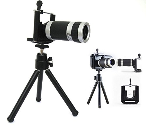Kabalo Universal 8X Magnify Zoom Camera Telescope Lens + Tripod Stand for iPhone 5 & 5S
