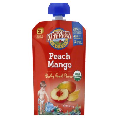 Puree Pouch, 95% Organic, 2, Peach Mango, 4 Oz (Pack Of 12 )