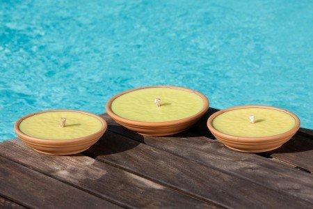 Fiaccole in coccio Ø17 cm durata 8 ore Citronella confezione da 25 pezzi
