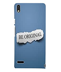 Fuson 3D Printed Be Original Designer Back Case Cover for Huawei Ascend P6 - D937
