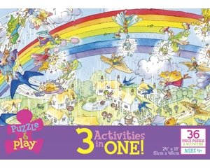 Rainbow Fairy 3 Activities In One Box Puzzle and Play Activities by Ceaco