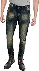 Efashionup Men's Skinny Fit Jeans (J5_32_Black Fawn)