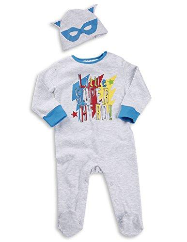 BabyTown-bb-garons-Superhero-Comic-nouveau-n-3-pices-body-Hat-Cap-Coffret-cadeau