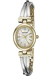 "Armitron Women's 75/5325MPTT Two-Tone ""X"" Shaped Bangle Watch"