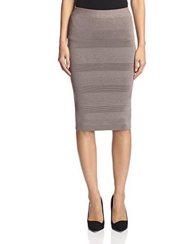Torn by Ronny Kobo Women's Ronny Textured Skirt  [Champagne]