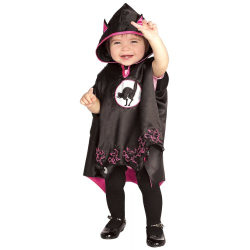 Black Cat Cape - Toddler 1-2 years, (Size 2-4 USA) by Official Costumes