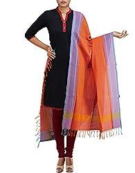 Unnati Silks Women Yellow-pink Pure Handloom Andhra Khadi Cotton dupatta