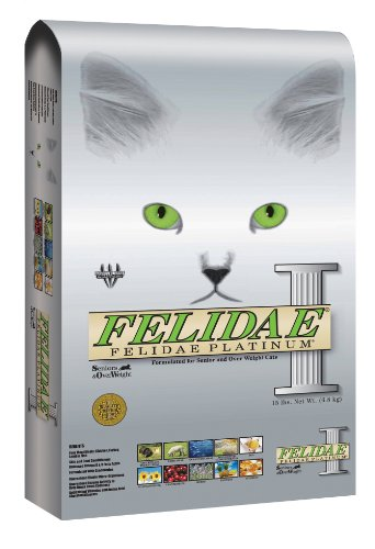 Image of Felidae Dry Cat Food for Senior and Overweight Cats, Platinum Formula, 15 Pound Bag