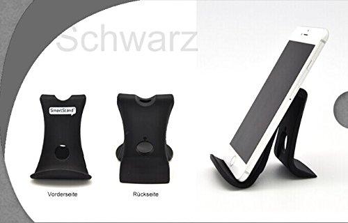 Antirutsch Handy Smartphone Tablet E-Reader Gummi Halter Holder Halterung Ständer Smartstand (schwarz)