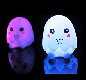 Domire Pack of 2 Color Changing Desk Bedroom Party Wedding Lamp LED Night Light,Eggshell from Domire
