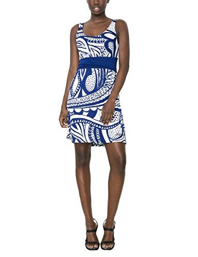 Desigual Damen A-Linie Kleid, mit Print, Blau - Bleu (Surf The Web), Gr. 40 (Herstellergröße:DE L / FR XL) thumbnail