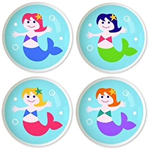 Kids Drawer Knobs - Mermaids Collection (Set of 4) from Olive Kids