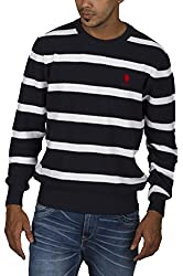 US POLO ASSOCIATION Men's Poly Cotton Sweater (USSW0431_black_Small)
