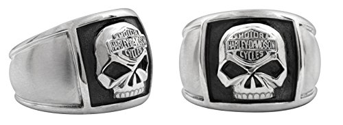 Harley-Davidson® MOD® Steel Skull Cigar Band Ring HSR0020 (11)