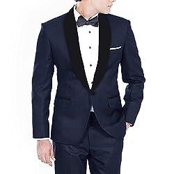 Hangrr Premium Midnight Blue Wedding Tuxedo Blazer
