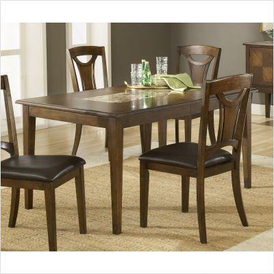 Buy Low Price Hillsdale Furniture Cannes Extension Marble Top Dining Table in Dark Brown (4175-810)