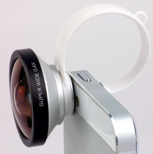 Action1St 0.4X Super Wide Angle Detachable Clip On Lens For Iphone 4 4S 4G 5 5G 5S 5C Samsung Galaxy S2 I9100 S3 I9300 S4 I9500 Note1/2/3