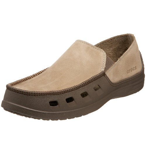 crocs Men's Tideline Leather Slip-On