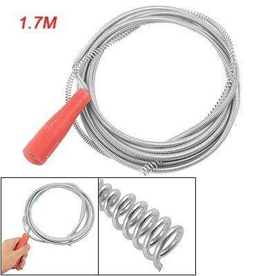 sourcingmapr-manico-in-plastica-flessibile-metallo-intasato-scarico-tubo-pulitore-17m-rosso