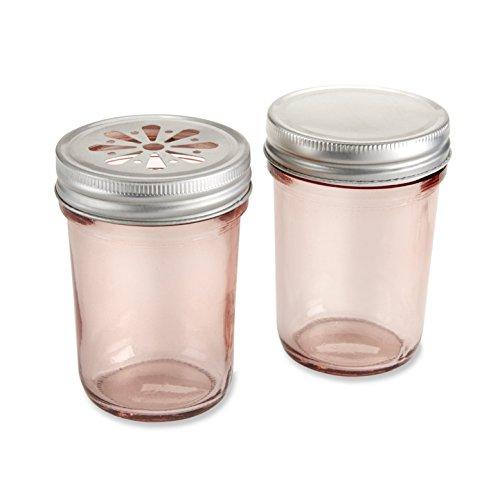 Kate Aspen Mason Jar, Pink Set of 12 - 1