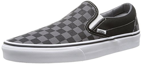 Vans U CLASSIC SLIP-ON Sneaker, Unisex Adulto, Nero (Black/Pewter Ch), 44.5