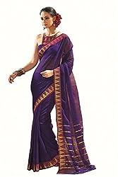 Lemoda Designer Purple Zari Border Cotton Blend Saree MMUKE51321376440-70000022